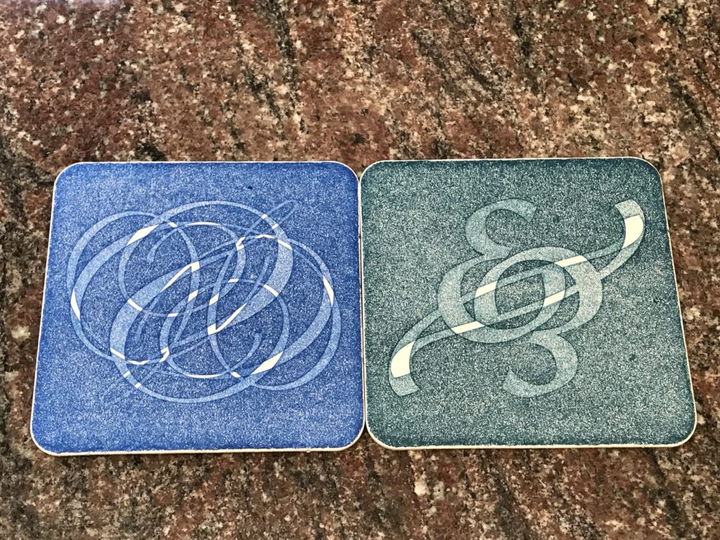 For the last two coaster designs, I tried rotating them and printing twice.